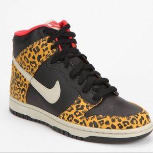 Cheetah Nike dunk hi-top sneaker